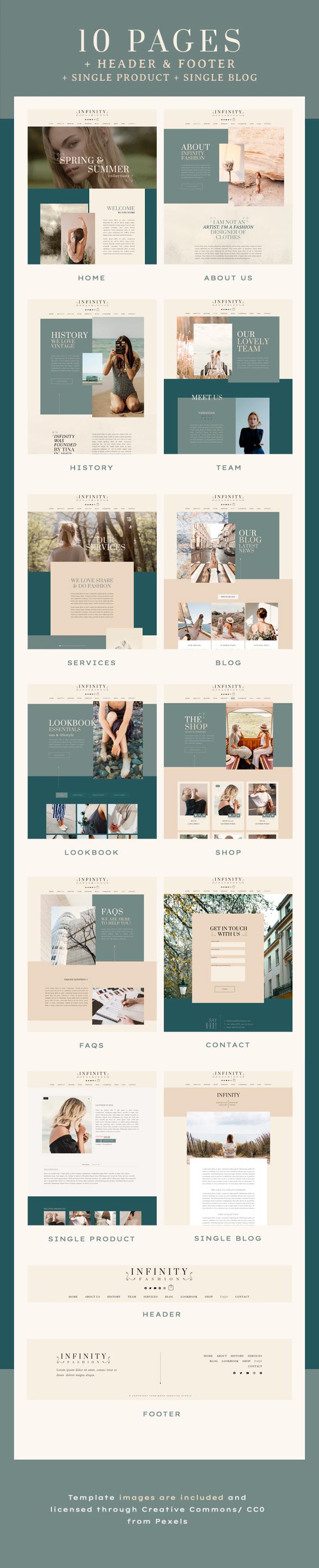 Infinity Fashion   Elementor Template Kit - WordPress
